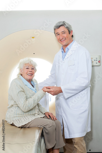 Happy Doctor And Female Patient