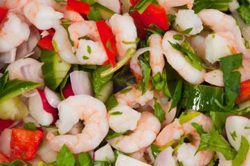 light prawn salad lunch