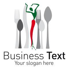 logo restaurant piment couvert