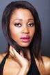 african american woman beauty closeup