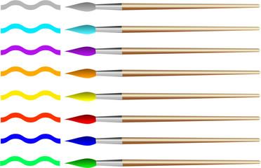 Pinsel bunte Farben