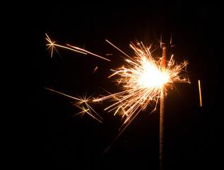Bengal light close-up spark