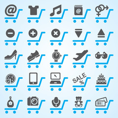 Shopping and E-commerce Icons Set