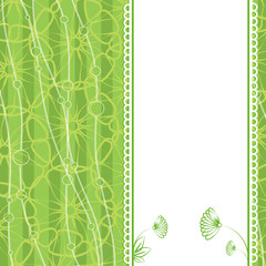 Invitation card. Flower. Template frame design for card.