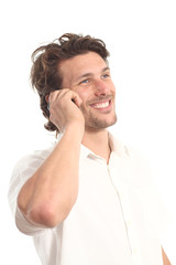 Business attractive young man with a phone