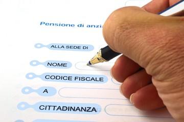 Domanda di pensione