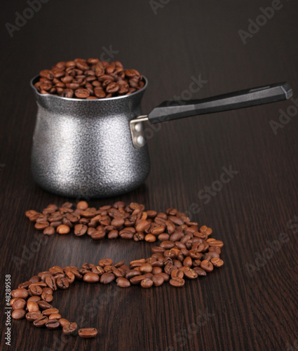 Coffee maker on brown table