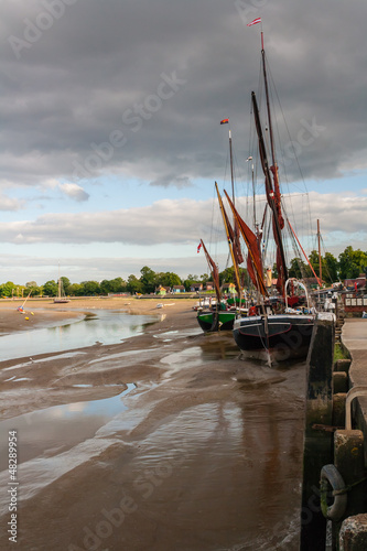 Thames barge at Maldon in Essex uk