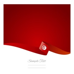 Abstract color background Tunisian flag vector