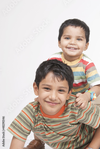 Two loving Indian brothers