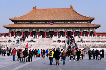 The Forbidden city in Beijing China
