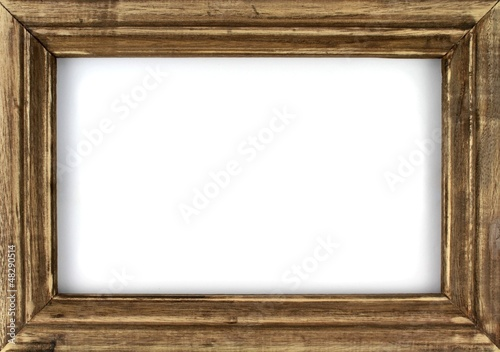 Leinwandbild Motiv Old picture frame isolated on white background.