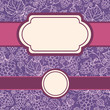 Vector set of frames with lace grape vine seamless pattern