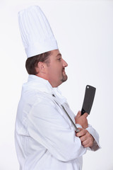 profile view of a cook