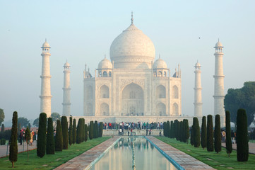 Early morning at Taj Mahal in Agra,unesco heritage site,India