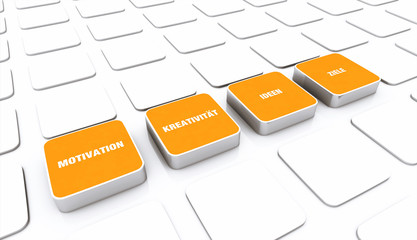 Pad Konzept Orange - Motivation Kreativität Ideen Ziele 1