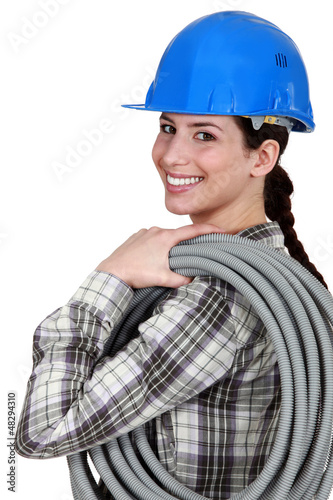 Female electrician