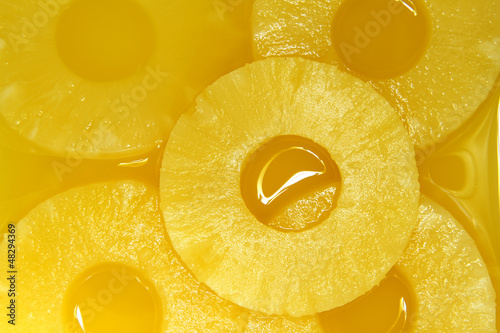 Foto Spatwand Plakjes fruit Pineapple slices