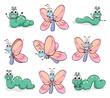 A caterpillar and a butterfly