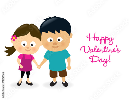 Valentines girl and boy