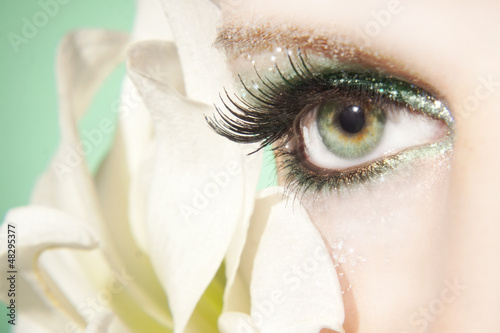 Fototapeten,auge,wimper,close-up,close-up