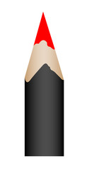 The pencil black.