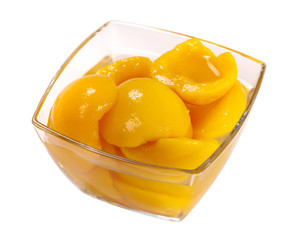 tinned peach compote
