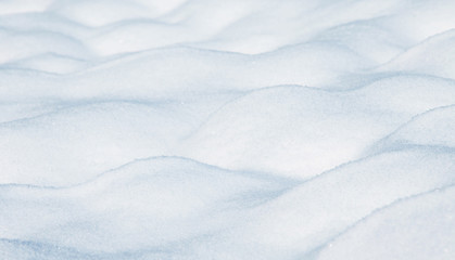 Artistic blurred snow layers