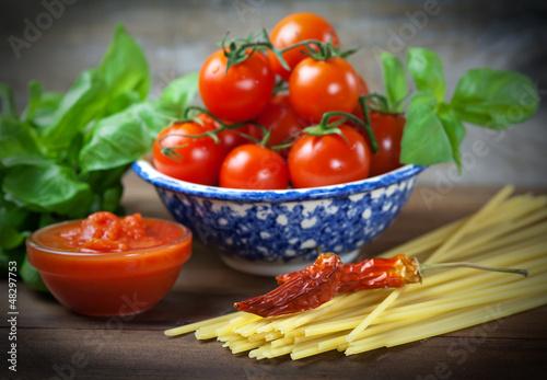 Staande foto Hot chili peppers Dieta mediterranea - Mediterranean diet