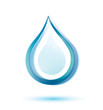 water drop isolated vector icon