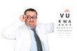 Silly optician with an eyechart