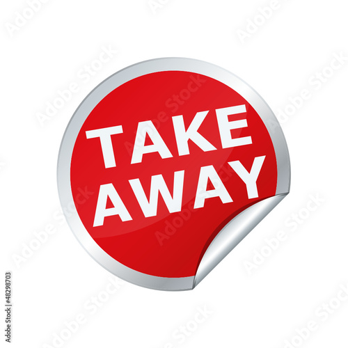 Button sticker  take away