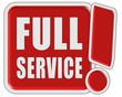 !-Schild rot quad FULL SERVICE