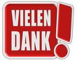 !-Schild rot quad VIELEN DANK