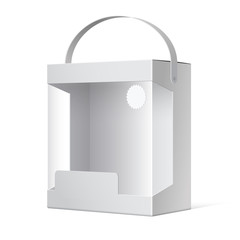 Light Package Box with a handle and a transparent window.