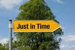 Pfeil mit Baum JUST IN TIME