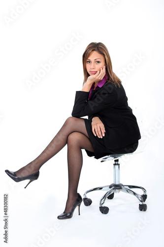 A bored businesswoman.