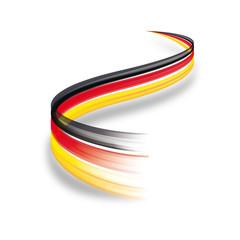Abstrakte Deutschland Flagge