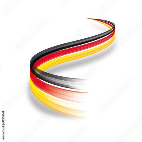 abstrakte deutschland flagge von puckillustrations lizenzfreier vektor 48300564 auf. Black Bedroom Furniture Sets. Home Design Ideas