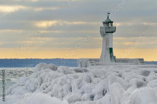 Leinwanddruck Bild lighthouse island of rügen