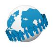 global Business team Network vector