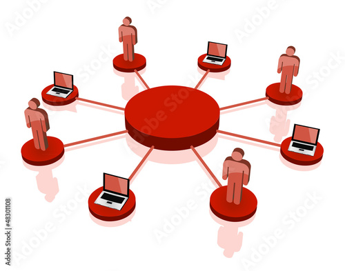 vector Business team Network