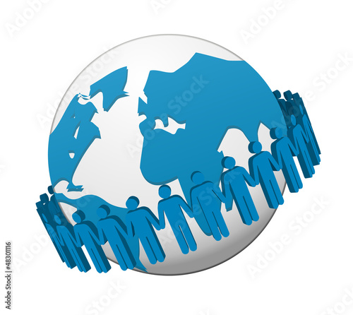 global Business team Network vector