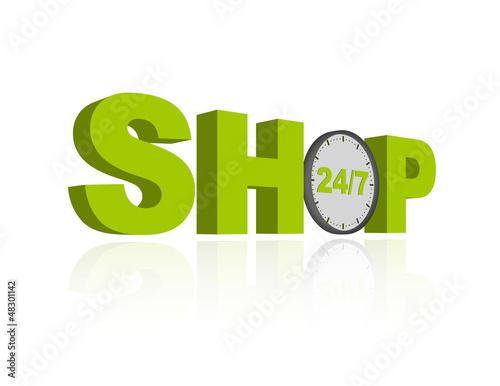 shopping 24/7 concept
