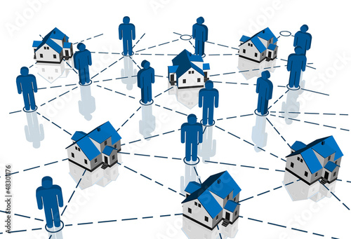 Real Estate Market, blue house network