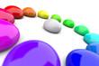 3D Farbkreis aus Tropfen 5