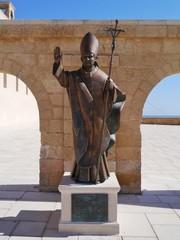 A statue of pope Benedicy XVI in puglia
