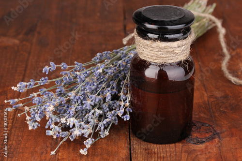 Lavender flowers and jar