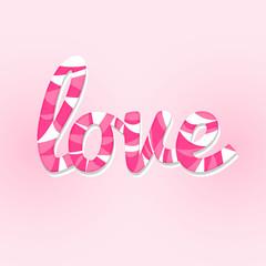 sweet love lettering card modern style