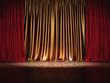 Prunkvoll Theater Bühne Gold Rote Vorhänge
